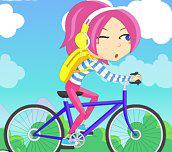 Dievča na bicykli