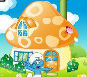 Hra - Dekorácie šmolkovského domčeku