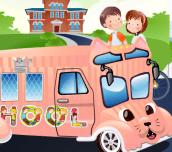Hra - School Bus Decoration