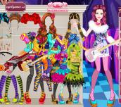 Hra - BarbieMonsterHighStarDressUp