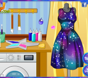 Hra - Elsa DIY Galaxy Dress
