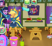 Hra - Equestria Girls Classroom Cleaning
