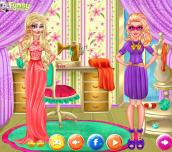 Hra - Winter Fashion Elsa and Super Barbie