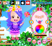 Hra - Baby Hazel Flower Princess Dress Up