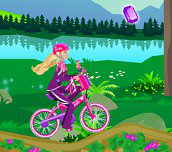 Hra - Barbie na bicykli