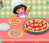 Hra - Dora's cooking club rescetas de pizza