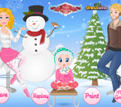 Hra - Barbie Family Winter Trip