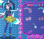 Hra - My Little Pony Rainbow Rocks DJ Pon-3 Dress Up