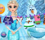Hra - Elsa Washing Clothes