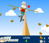 Balance on rope