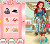 Hra - Barbie's Patchwork Peasant Dress