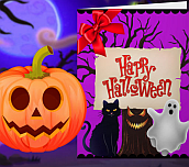 Hra - Happy Halloween Princess Card Designer