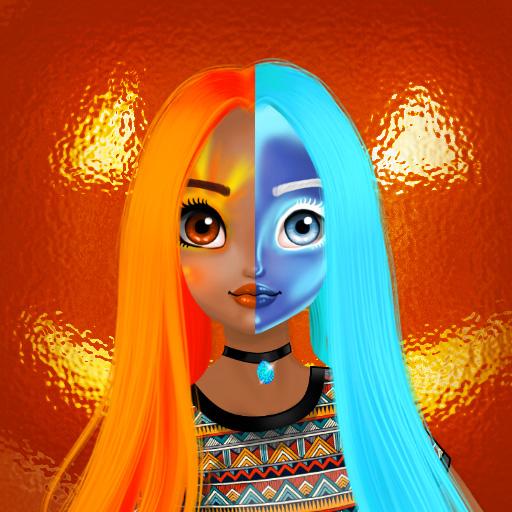 Hra - Princess Halloween Makeup Halfacer Tutorial